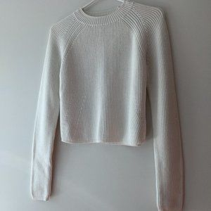 Club Monaco Ribbed Cable Sweater White Size Small